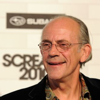 LOS ANGELES, CA - OCTOBER 16: Actor Christopher Lloyd arrives at Spike TV's