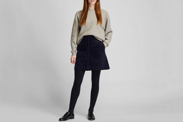 Uniqlo Corduroy Mini Skirt