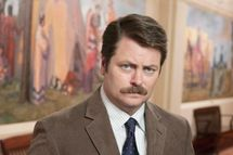 PARKS AND RECREATION -- Pictured: Nick Offerman as Ron Swanson -- NBC Photo: Mitchell Haaseth