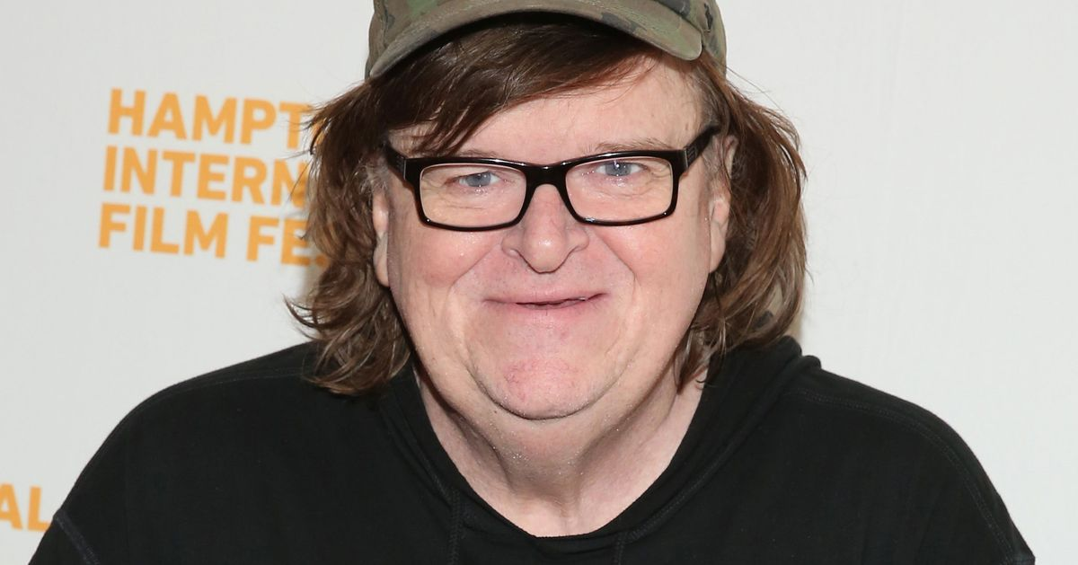 michael moore and donald trump sparring over broadway show