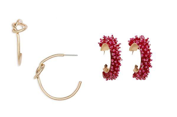 BP. Hoop Knot Earrings