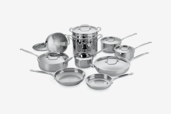 Cuisinart Chef's Classic Stainless Steel Cookware 17 Piece Set