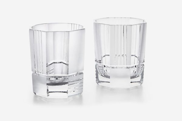 Ralph Lauren Mercer Set of 2 Lead Crystal Double Old Fashioned Glasses