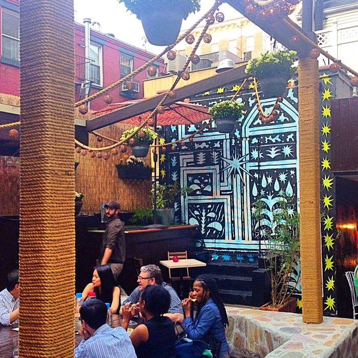 The Mulberry Project's Tulum-inspired patio.
