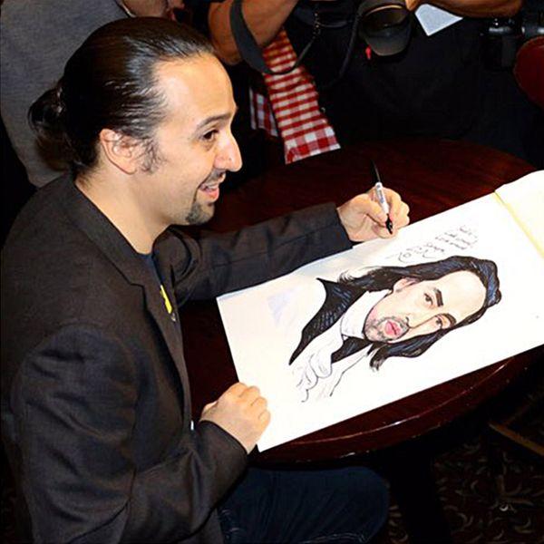 Lin-Manuel Miranda Finally Got His Sardi's Portrait