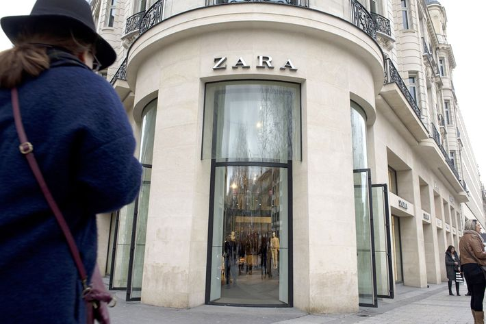 A Zara store on the Champs Elysee