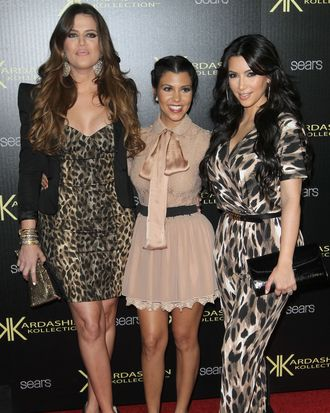 From left: Khloe, Kourtney, Kim.