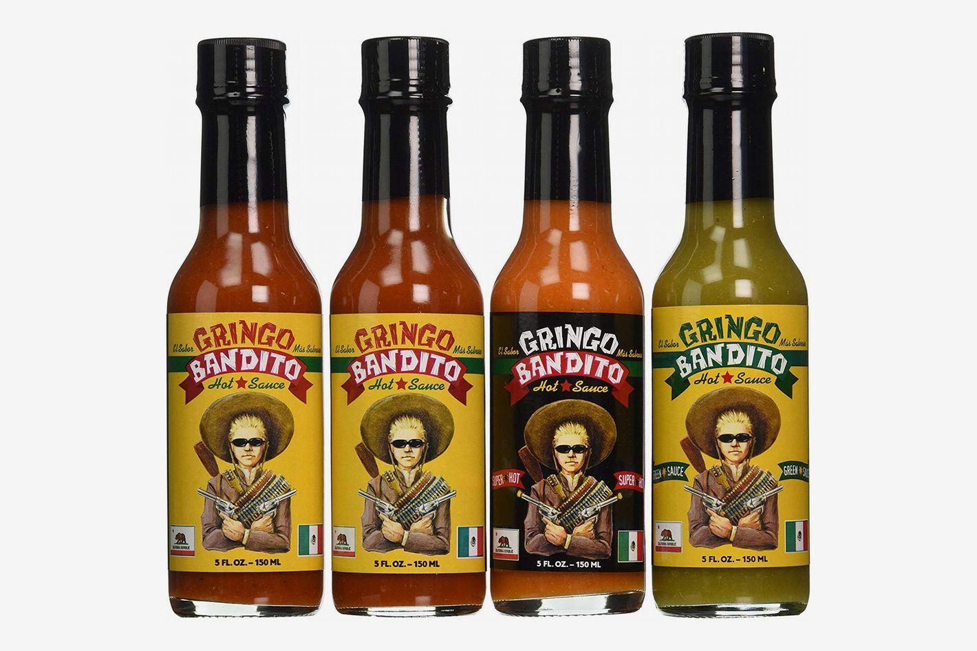 Gringo Bandito O.G. Hot Sauce Variety Pack, 5 oz (4 Pack)