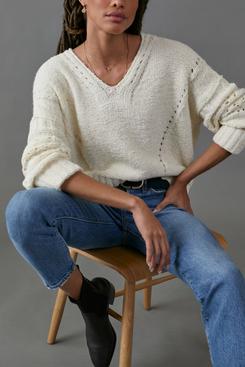 Pilcro and the Letterpress Marla V-Neck Sweater