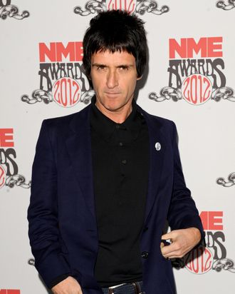 Johnny Marr arrives at NME Awards at Brixton Academy on February 29, 2012 in London, England.