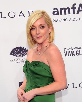 Jane Krakowski, wearing Bulgari, attends the 2014 amfAR New York Gala at Cipriani Wall Street on February 5, 2014 in New York City.