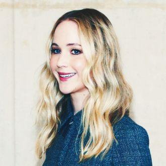 Jennifer Lawrence at Paris Fashion Week.