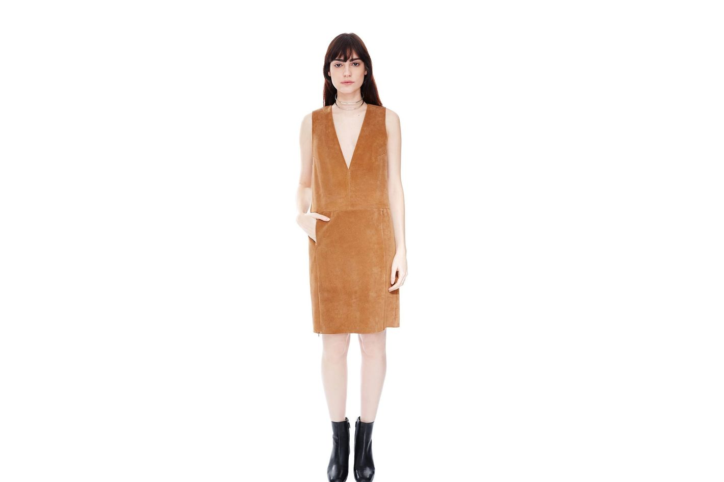 Veda Canal Suede Dress