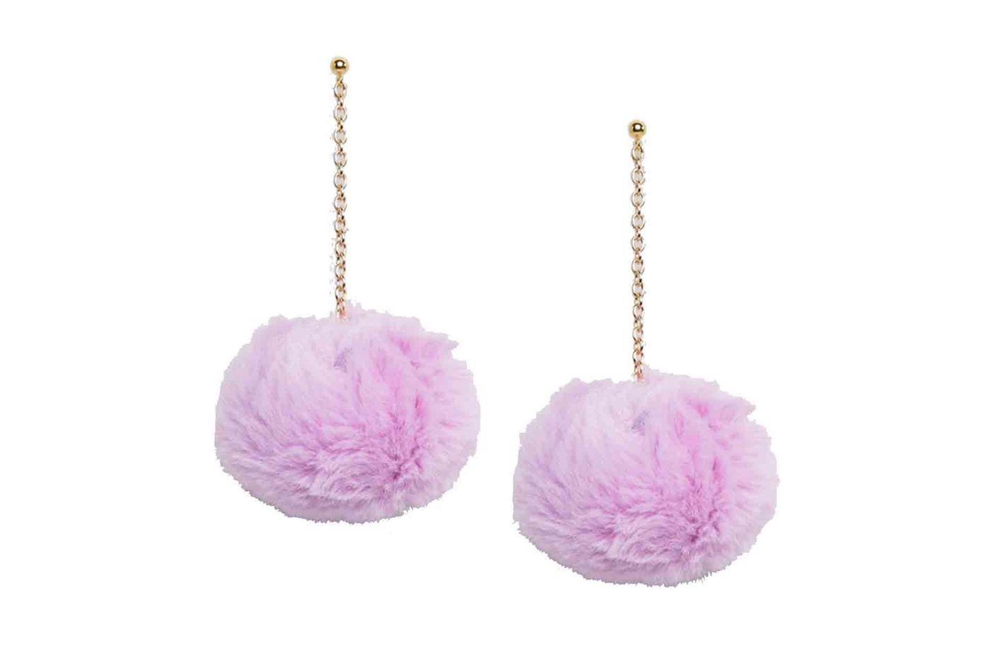 ASOS large pom-pom earrings