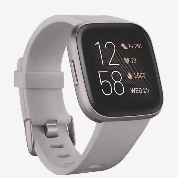 Fitbit Versa 2 Smartwatch with Voice Control, Stone/Mist Grey