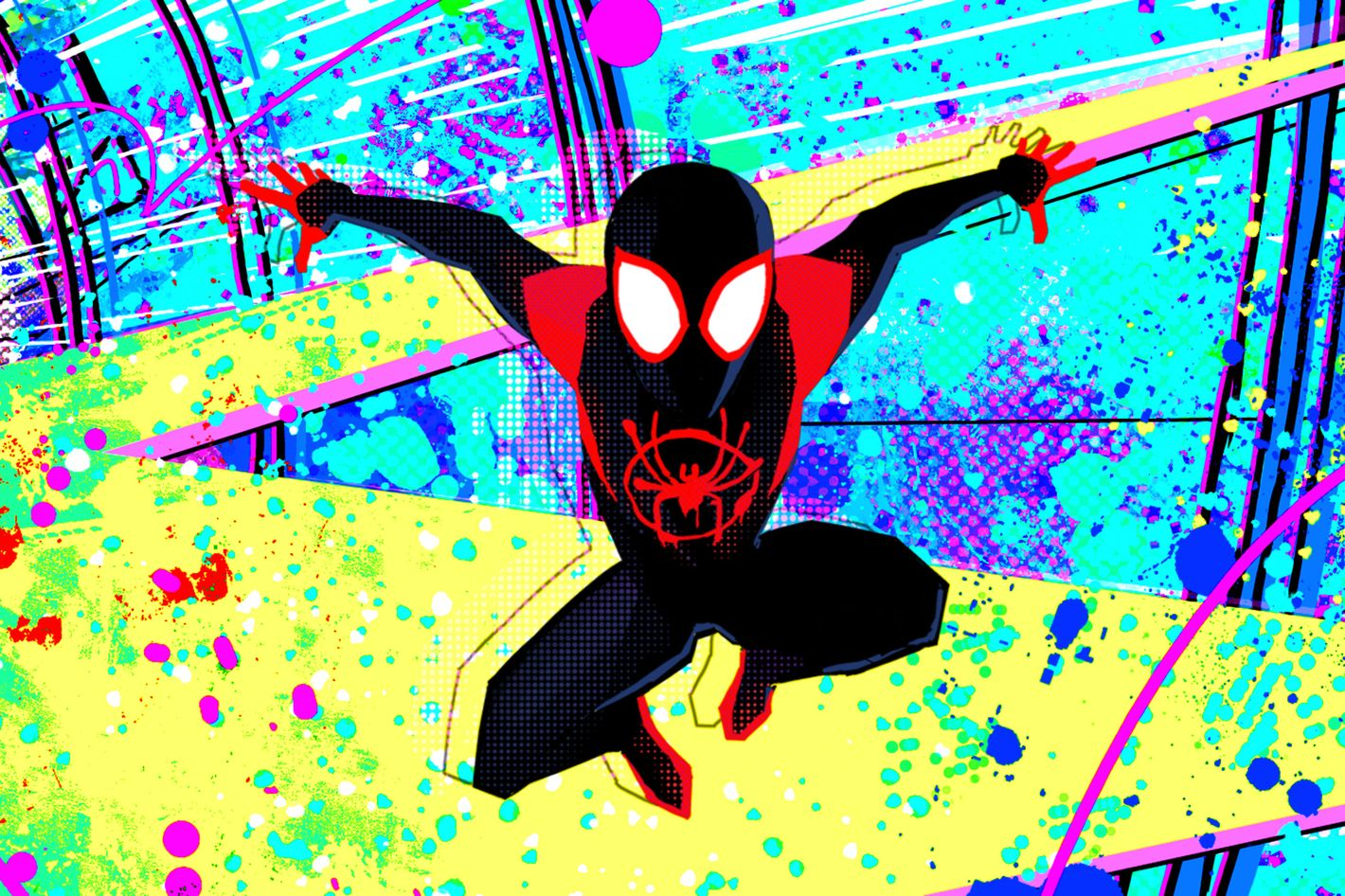 Image result for spider man into the spider verse style