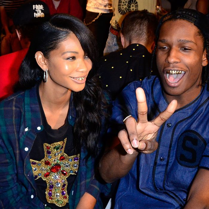 Chanel Iman and A$AP Rocky.