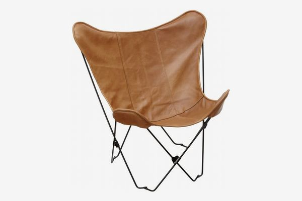 PB Teen Leather Sling Butterfly Chair