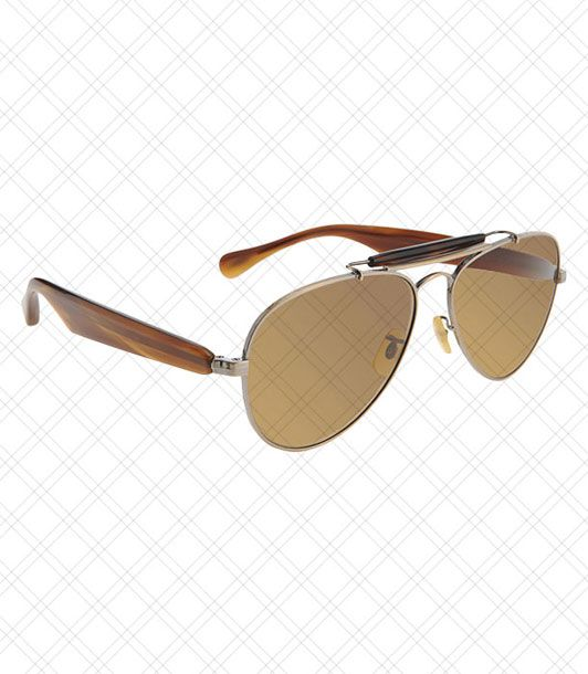"<i></i>  Expensive-looking wood on the arms acts as a low-key status symbol.  <i>$470 at <a href=""http://www.barneys.com/Oliver-Peoples-Thesoloist-Teardrop/00505014997099,default,pd.html?cgid=womens-sunglasses&index=7"">Barneys</a></i>"