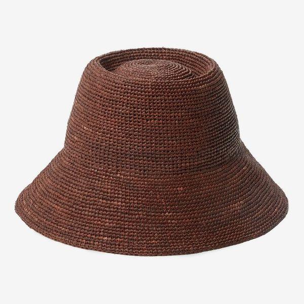 Janessa Leone Felix Raffia Straw Bucket Hat