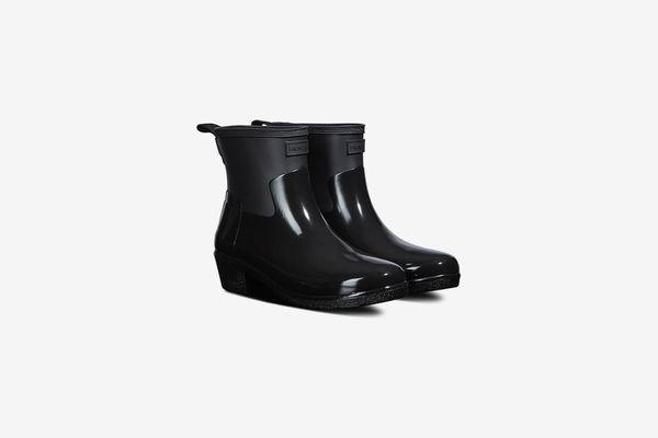 Hunter Refined Low Heel Biker Rain Boot