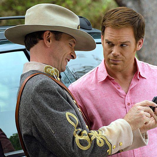 Brett Rickaby as Inspector Phil Bosso and Michael C. Hall as Dexter Morgan (Season 7, episode 10)