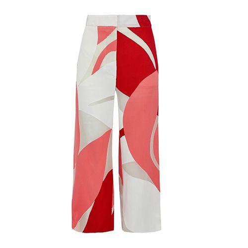 Marni Cropped chiffon-paneled twill wide-leg pants