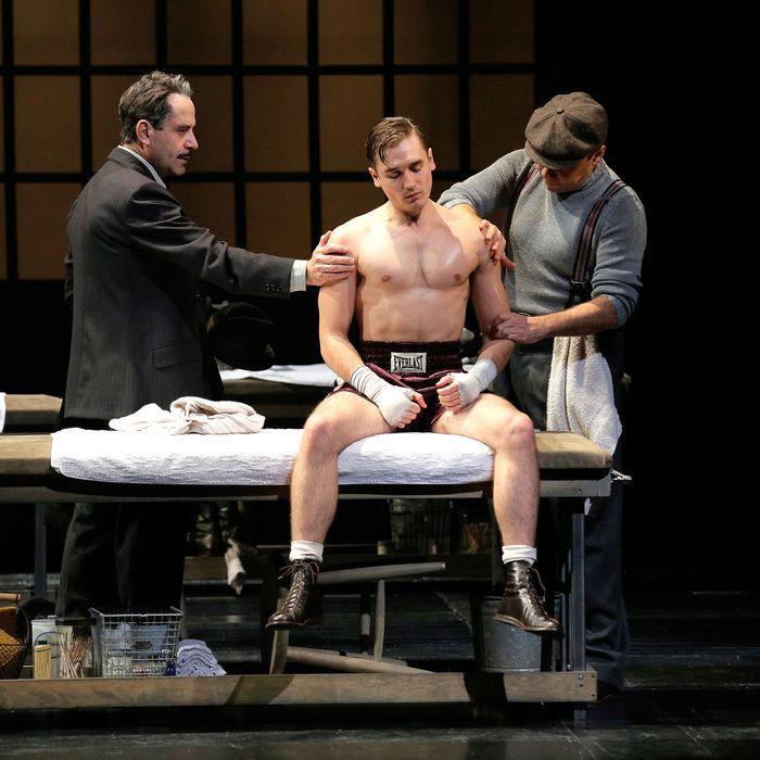 From L to R: Tony Shalhoub, Seth Numrich and Danny Burstein in Golden Boy