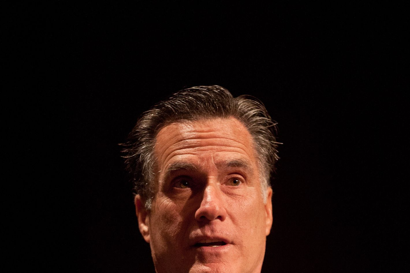 Republican presidential candidate former Massachusetts Gov. Mitt Romney speaks during a town hall meeting at the Memminger Auditorium on December 17, 2011 in Charleston, South Carolina.