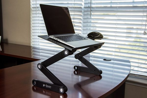 executive office solutions portable adjustable aluminum laptop desk