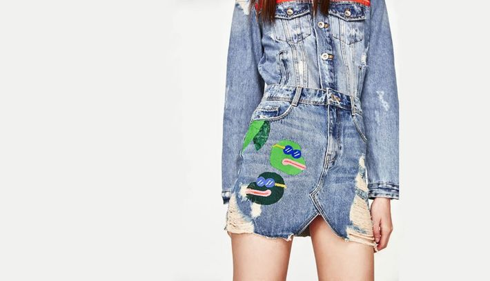 Zara's Pepe the Frog Skirt Is Getting Dragged by the Internet