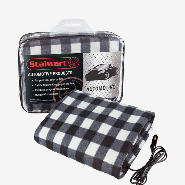 Stalwart Electric Heated 12 V Polar Fleece Car Blanket