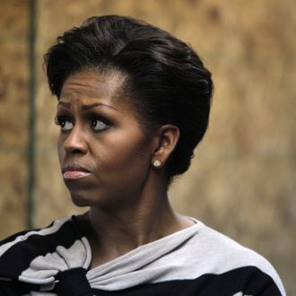 CHICAGO, IL - OCTOBER 25: First lady Michelle Obama tours Iron Street Urban Farm, one of the Growing Power farms, on October 25, 2011 in Chicago, Illinois. Earlier in the day Obama visited a Walgreens store that sells produce. The visits were part of the first lady's