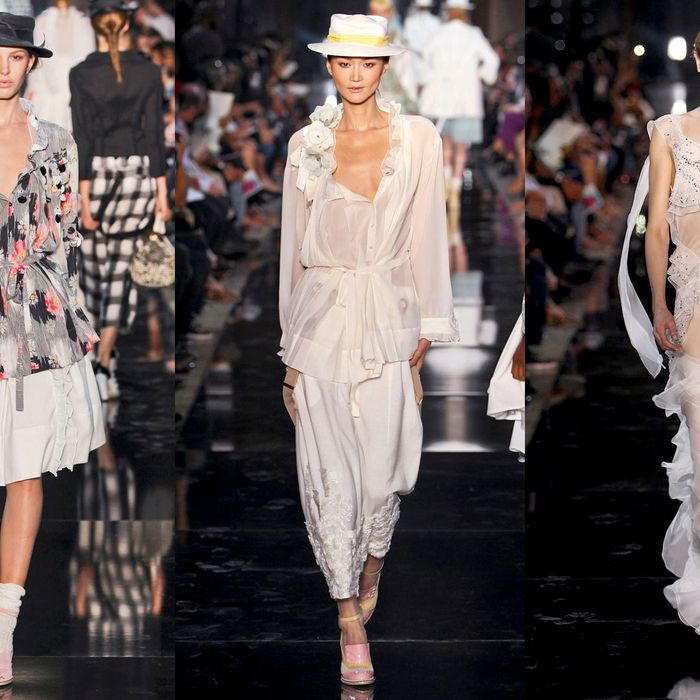 Looks from the spring 2012 John Galliano show.