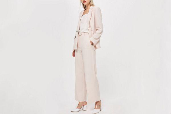 Blush Slouch Suit Blazer