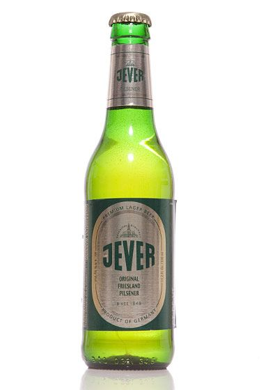 "Brauhaus zu Jever (Germany)<br>$3 for 11.2 oz. <br><strong>Type:</strong> German Pilsner<br><strong>Tasting notes:</strong> ""Crisp and clean, with mineral notes and a sharp, spicy-hop finish. The perfect beer to pair with seafood or as an apertif."" <br>—Erik Olsen, manager, Brouwerij Lane<br>"