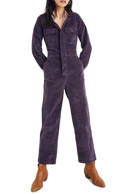 Madewell Velveteen Slim Coverall Jumpsuit