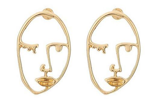 Zealmer Statement Face Earrings