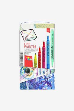 Derwent Graphik Line Painter Marker 5 Color Set #1