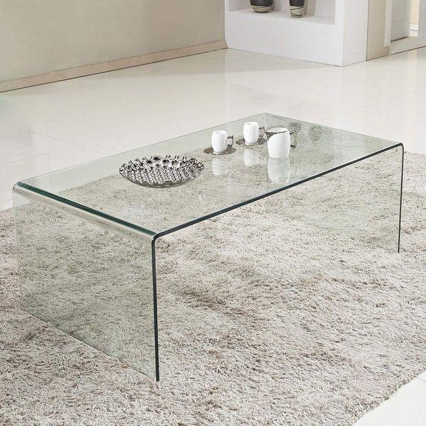 Tangkula Glass Coffee Table