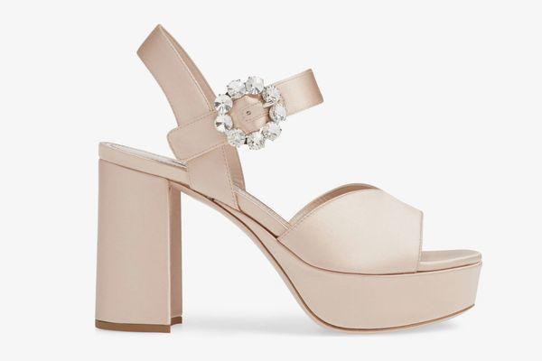 Miu Miu Jewel Platform Sandal