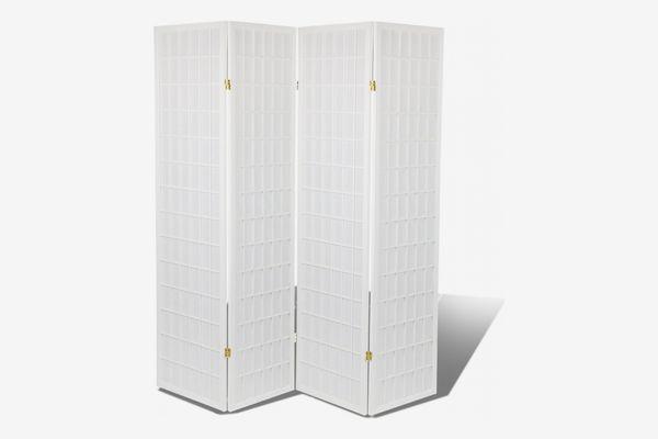Magshion Shoji Screen Oriental Room Divider, White