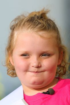 "Alana 'Honey Boo Boo' Thompson visits ""Extra"" at The Grove on October 15, 2012 in Los Angeles, California."