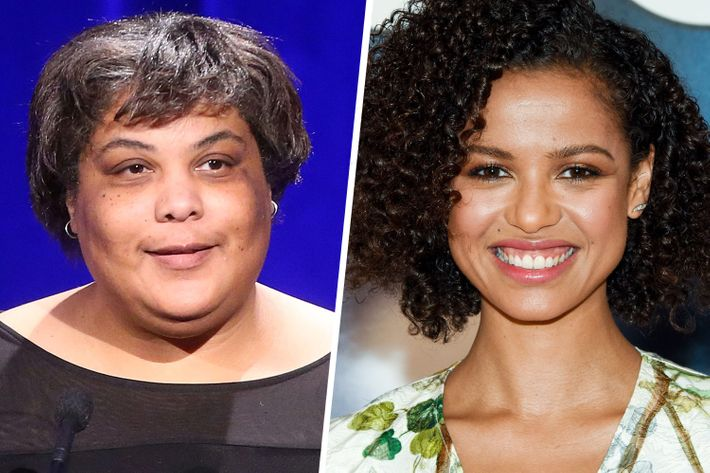 Roxane Gay and Gugu Mbatha-Raw.