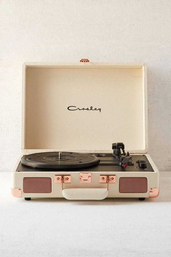 Crosley UO Exclusive Cream + Rose Gold Cruiser Bluetooth Record Player