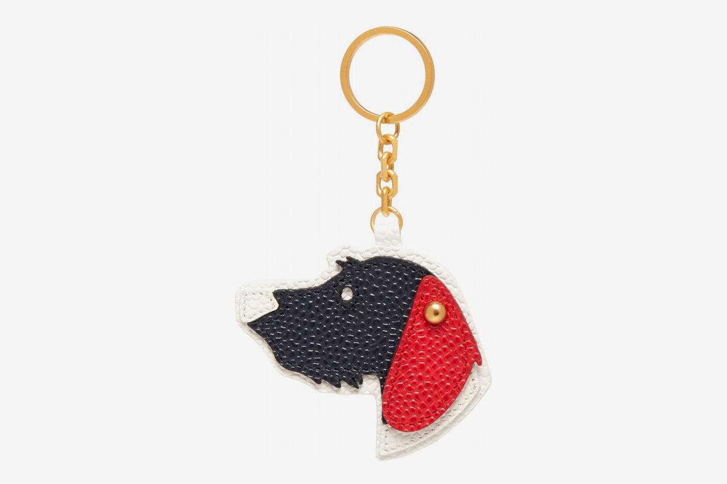 Thom-Browne Hector Pebbled Leather Key Ring