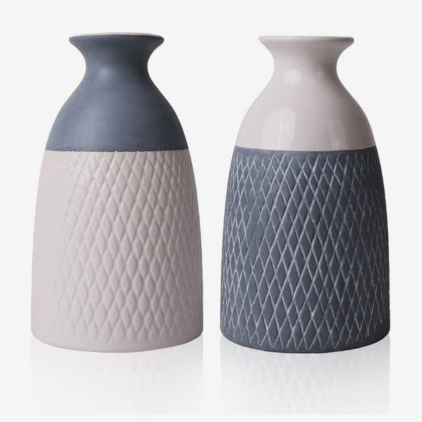 Ceramic Flower Vases, Set of 2