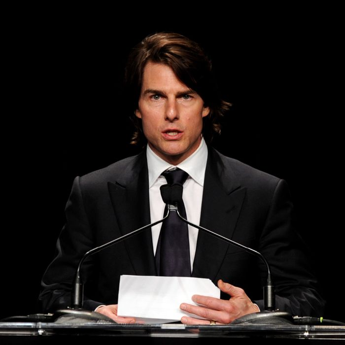 Actor Tom Cruise receives the Humanitarian Award at the Simon Wiesenthal Center's Annual National Tribute Dinner at the Beverly Wilshire Hotel on May 5, 2011 in Beverly Hills, California.