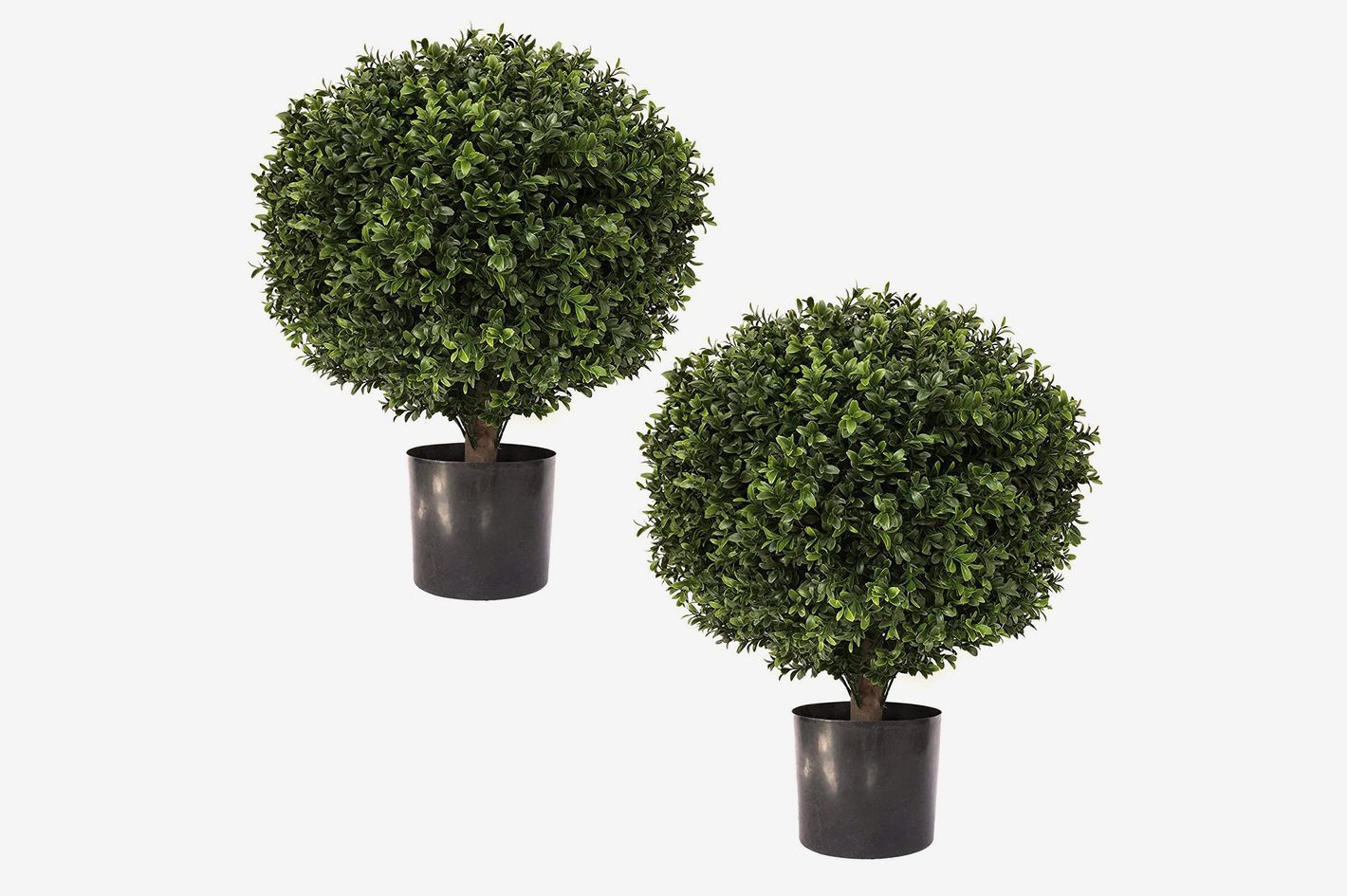 "Seven Oaks 24"" Tall 16"" Round Artificial Topiary Ball Boxwood Trees (Set of 2)"