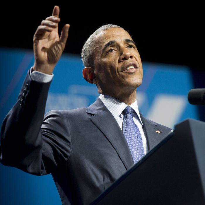 President Obama at the United State of Women conference.